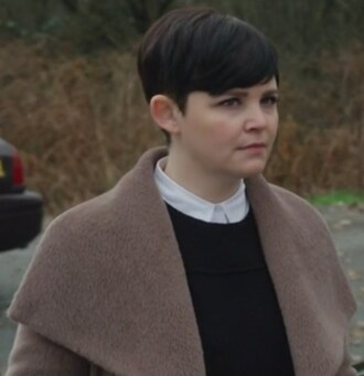 coat brown fur ginnifer goodwin once upon a time show mary margaret blanchard