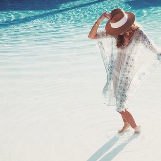 dress sheer kaftan bohemian beach sheer cover up
