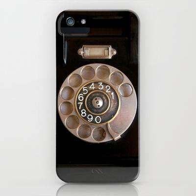 OLD BLACK PHONE iPhone & iPod Case by Simone Morana Cyla | Society6