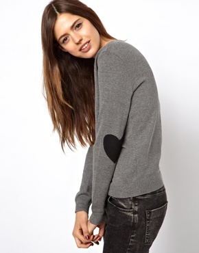 ASOS   ASOS Sweater With Heart Elbow Patches at ASOS