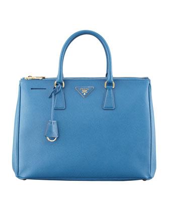 Prada Saffiano Executive Tote Bag, Cobalt (Cobalto)