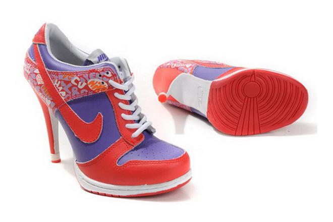 Dunk SB Female Heels Low New Colorways Red & Purple