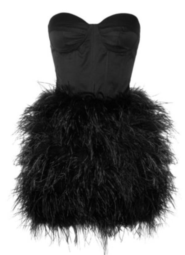 dress black dress black feathers feathered dress help plz instagram twitter crop tops little black dress fashion