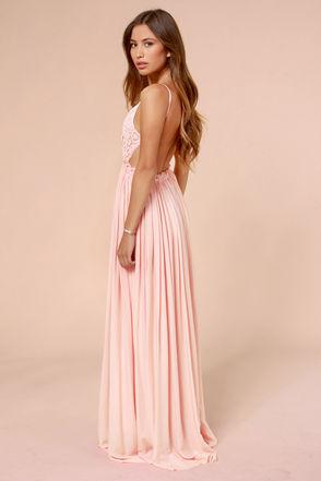 Pretty Pink Dress - Crochet Dress - Maxi Dress - Lace Dress - $54.00