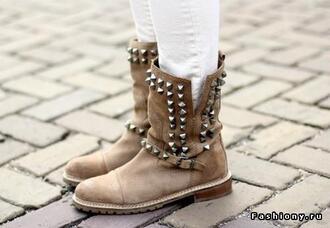 shoes studded studs rivet boots