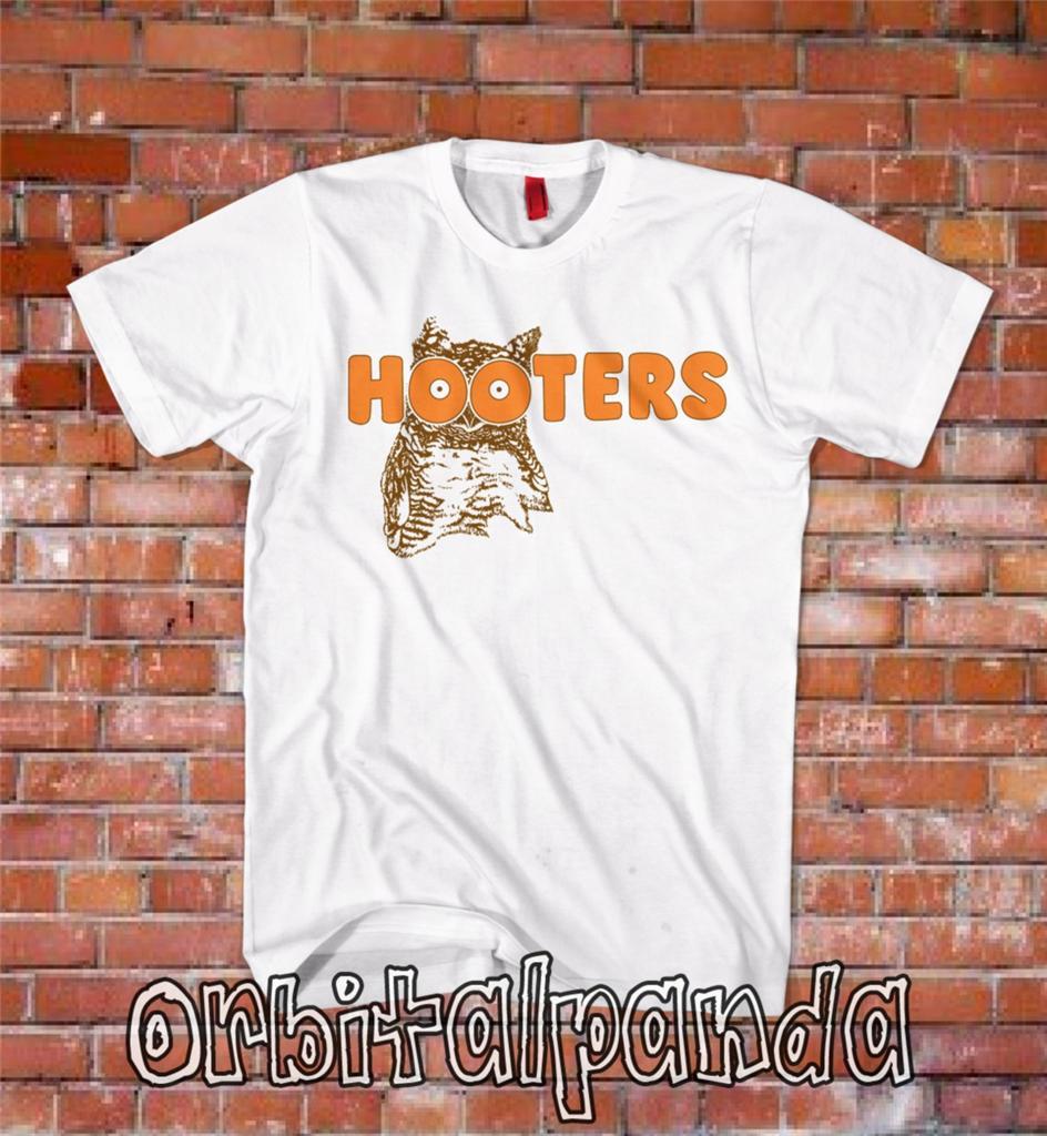 White T Shirt With Hooters Logo American Restaurant Fancy Dress 3XL 4XL 5XL | eBay
