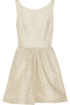 Alice   Olivia Marla metallic lace dress - 50% Off Now at THE OUTNET