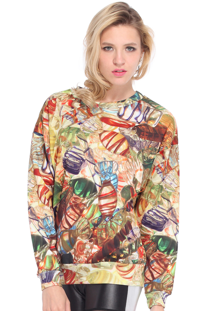 ROMWE | Candies Print Sweatshirt, The Latest Street Fashion