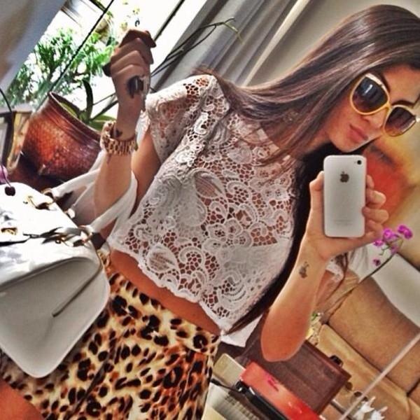 shorts shirt sunglasses bag