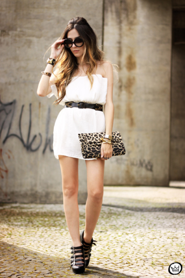 fashion coolture dress belt jewels sunglasses shoes