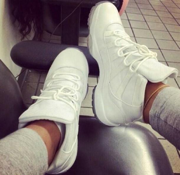 shoes jordans white sneakers high top sneakers jordans