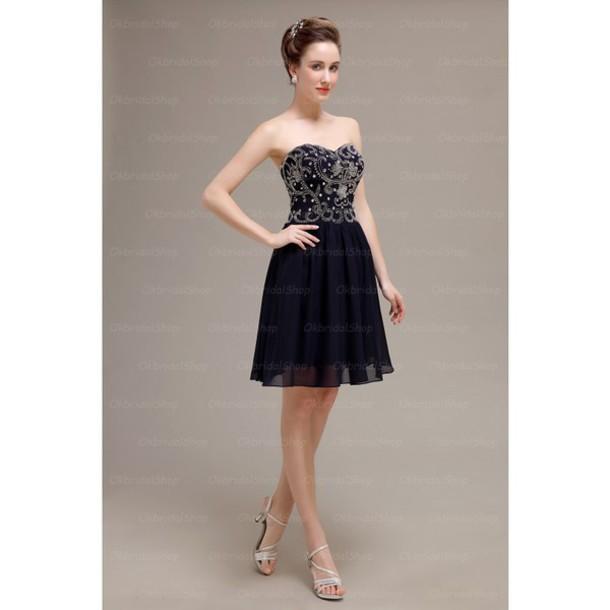 dress prom dress prom dress navy prom dress