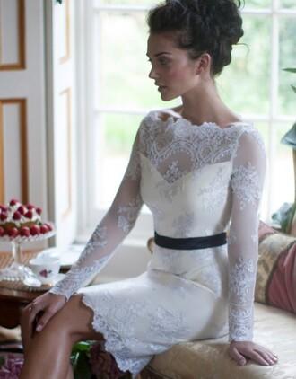 dress lipsy bardot lace shift white caramel ecru cream wedding bride
