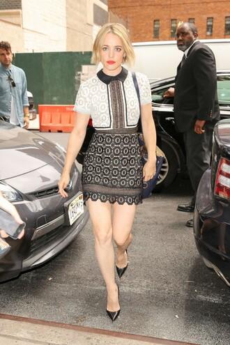 dress rachel mc adams mini dress lace dress
