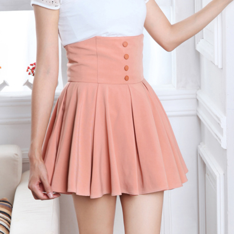 Free Shipping 2013 Spring New Arrivel Fashion All Match High Waist Single Breasted Women's Skirts Solid Color Female Skirts-inSkirts from Apparel & Accessories on Aliexpress.com