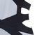 Juliana Grey & Navy Cut Out Bandage Dress Herve Leger