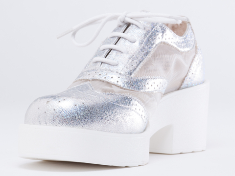 How Two Live X Windsor Smith Flutter in Silver at Solestruck.com