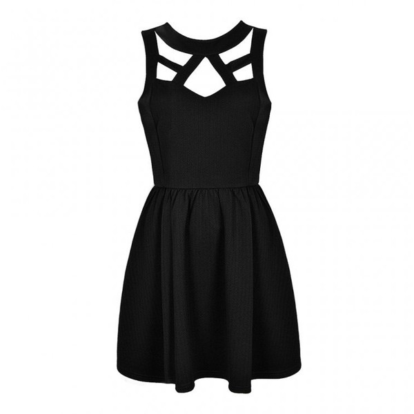 CUT OUT SKATER DRESS - Polyvore