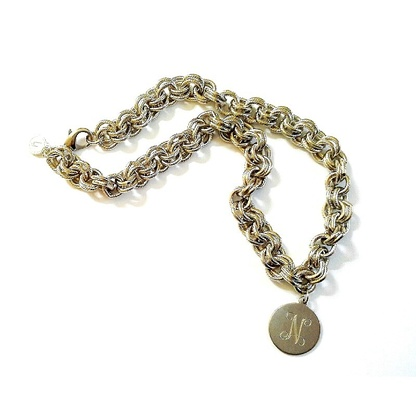 CHUNKY CHAIN MONOGRAM NECKLACE