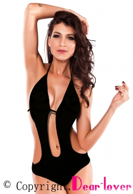 Fire New Beachy Cut-out Monokini in Black