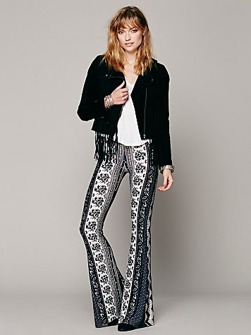 Novella Royale  Border Print Bell Bottoms at Free People Clothing Boutique