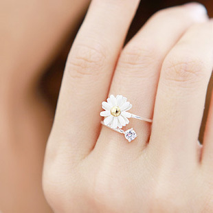 0627 Daisy Ring Ring daisy flower ring [0627] - $0.74 : Fashion jewelry promotion store,Supply all kinds of cheap fashion jewelry