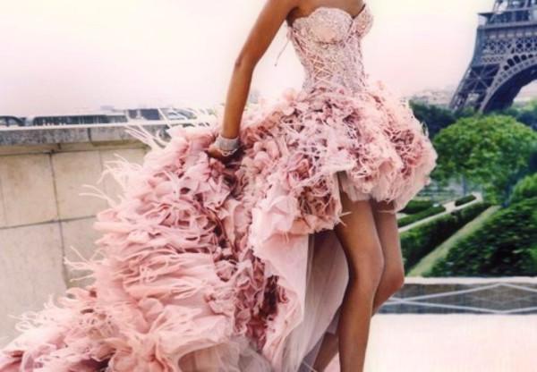 pink dress high-low dresses dress