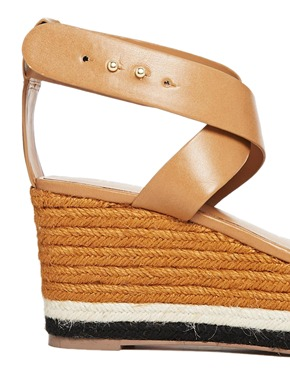 Mango | Mango Raffia Wedge Sandals with Chunky Straps at ASOS