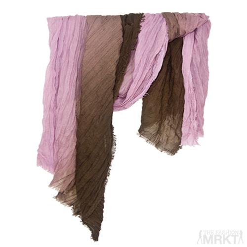 Tilo Gradation Lilac/Coco Ombre Tonal Crinkle Viscose Scarf  / TheFashionMRKT