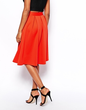 Oh My Love | Oh My Love Pleated Midi Skater Skirt at ASOS