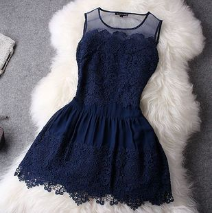 2013 Silk Organza Senior Water soluble Flower Embroidered Lace One piece Dress-inDresses from Apparel & Accessories on Aliexpress.com