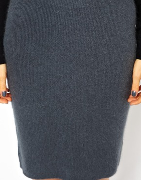 American Vintage | American Vintage Knitted pencil Skirt in Angora at ASOS