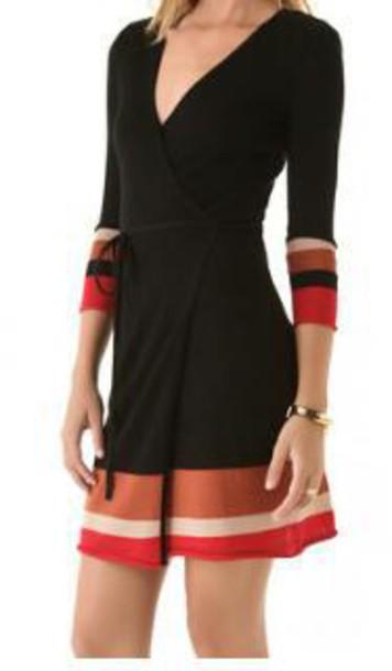 dress colorbloked dress orange v neck dress long sleeve dress