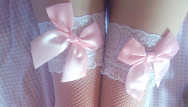 underwear kawaii thigh highs pastel goth pastel grunge pastel grunge cute knee high socks socks mesh tights