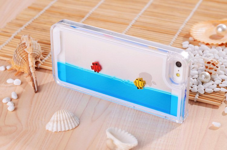 Swimming Fish Free Movable Hard Case Cover Skin for iPhone 5 5S 5g 4 4S 4G New   eBay