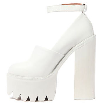 The Scully Platform in All White on Wanelo