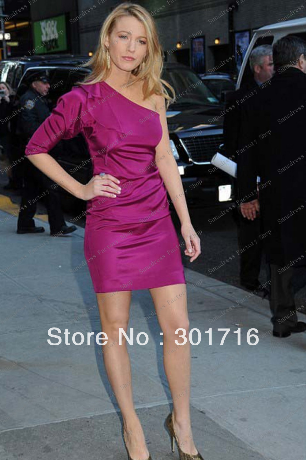 Blake Lively Peach Red Carpet Dress One Shoulder Sheath Emmy Awards 2009 Gossip Girl-in Celebrity-Inspired Dresses from Apparel & Accessories on Aliexpress.com