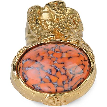 SAINT LAURENT - Arty gold-plated ring   Selfridges.com