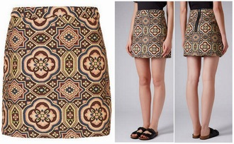 skirt topshop jacquard folk tapestry doctor who clara oswald