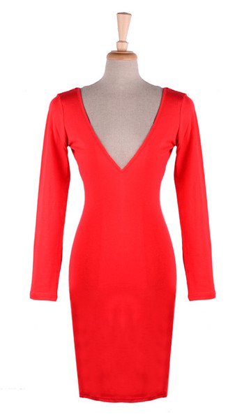 Deep Vee Bodycon Dress   Outfit Made