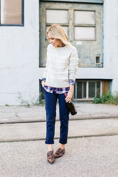 damsel in dior blogger casual striped sweater