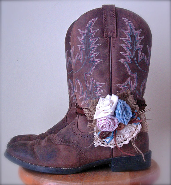 Shoe Accessories Boot Bands with Hand Made Fabric by jhammerberg