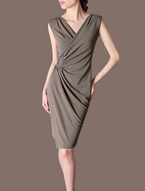 Purple & Grey Sleeveless Elegant Noble Summer OL Women Fashion Dress lml7097 - ott-123 - Global Online Shopping for Dresses