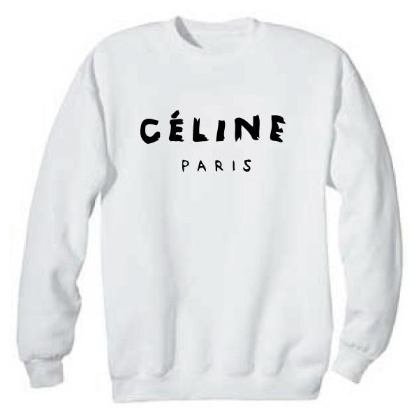 CELINE PARIS SWEATSHIRT SWEATER Size SMALL - CÉLINE - Polyvore