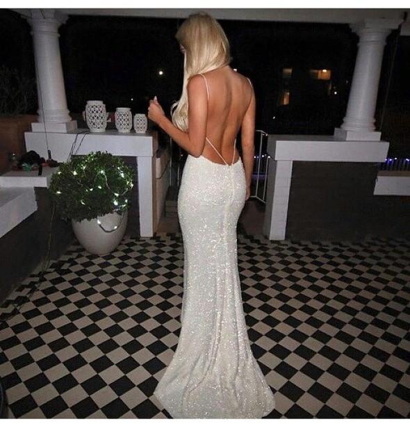 dress prom dress sparkly dress white dress glittery dress
