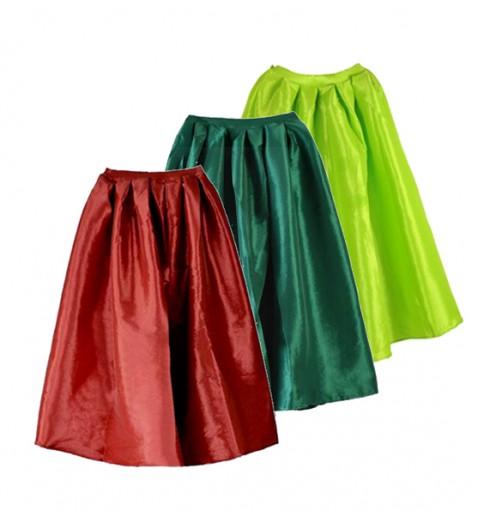 Silky Midi Calf Length Skirt - Bottoms - Clothing