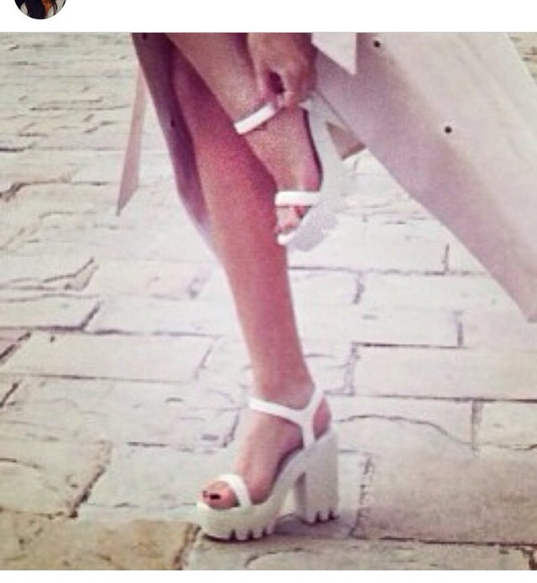 shoes heels white kenza sandals