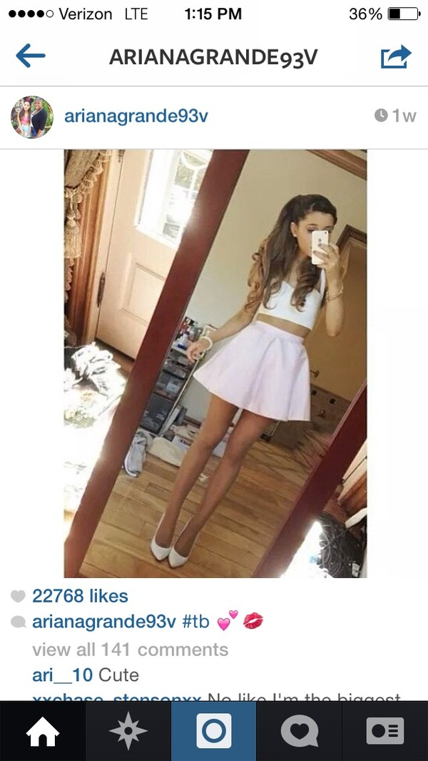 skirt style fashion beautiful ariana grande top