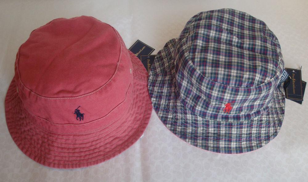Polo Ralph Lauren Reversible Bucket Hat Size L XL s M   eBay