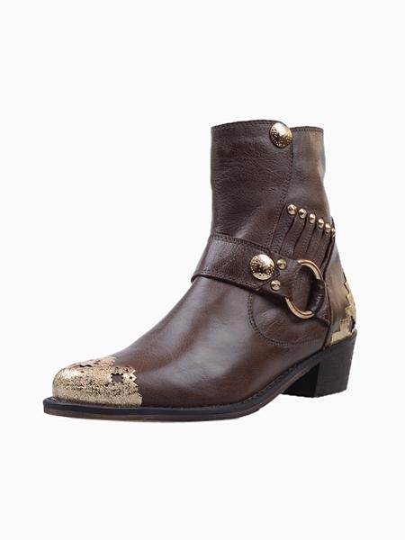 Metal Toe Cap Ankle Boots | Choies